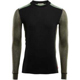 Aclima Hiking T-shirt Manches longues Col ras-du-cou Homme, jet black/olive night/dill
